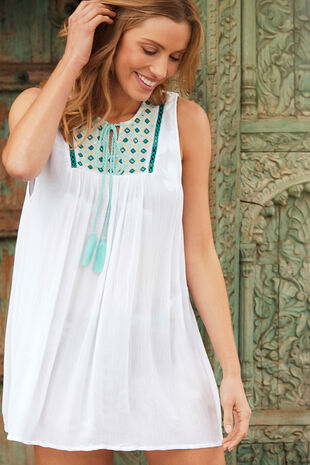 Embroidered Mirror Vest Top