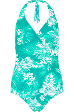 Tropical Floral Halterneck Swimsuit