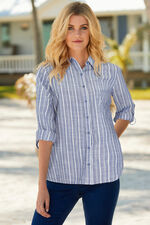 Stripe Shirt With Roll Sleeves