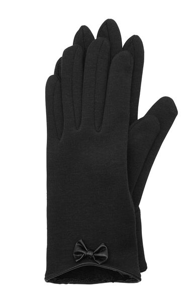 Ponte Glove with PU Bow