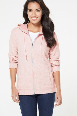Textured Zip Thru Hoody