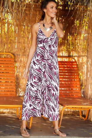 Zebra Strokes Maxi Dress