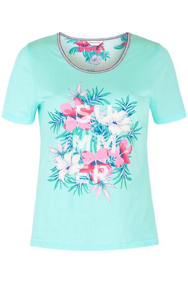 Tropical Floral Crop Pyjama Set