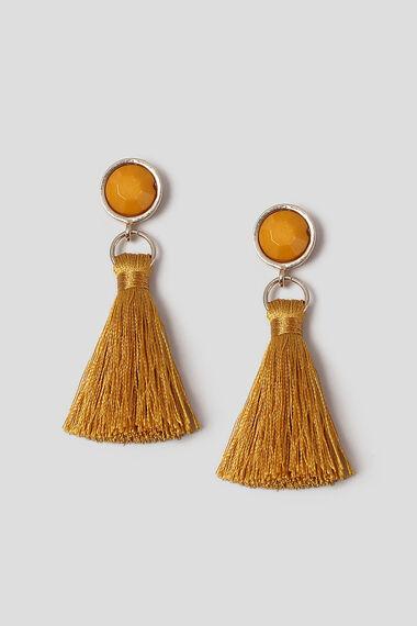 Muse Facet Bead & Tassel Drop Earrings