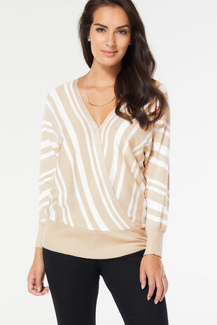 Stella Morgan Wrap Front Jumper