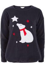 Polar Bear Fleece Top Pyjamas