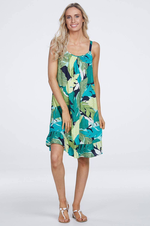 Yours Clothing Women/'s Plus Size Blue /& White Leaf Print Swim Shorts