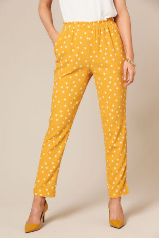 Grace By Eda Pull On Mini Dot Trouser