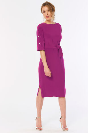 Stud Sleeve Tunic Dress