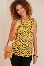Animal Print Sleeveless Shirt