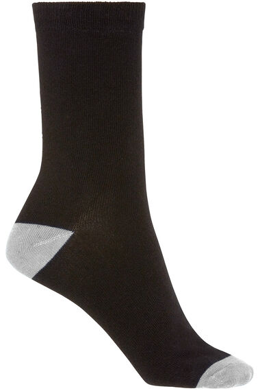 5 Pack Bright Contrast Heel & Toe Sock