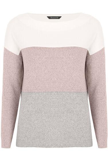 Soft Touch Lightweight Colour Block Top