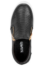 Krush Mock Croc Slip On with Zip Detail