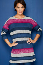 Soft Touch Blurred Stripe Tunic