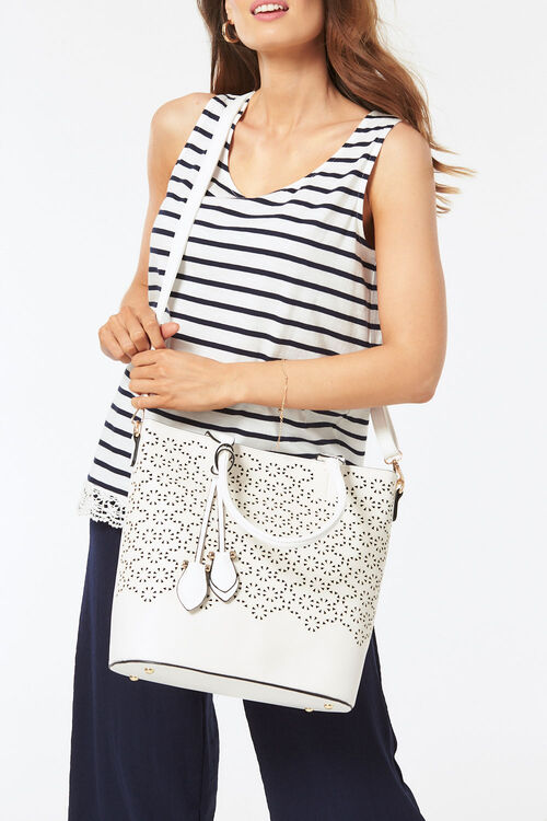 PL Handbags Large Laser Cut Tote