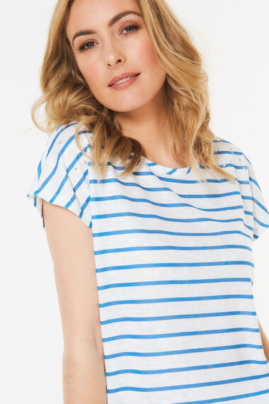 Metallic Stud Stripe T-Shirt