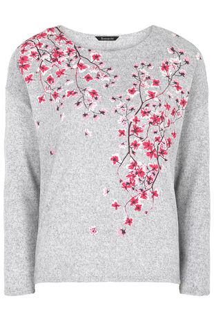 Blossom Print Soft Touch Sweat