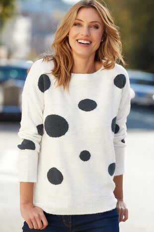 Oversized Spot Jumper