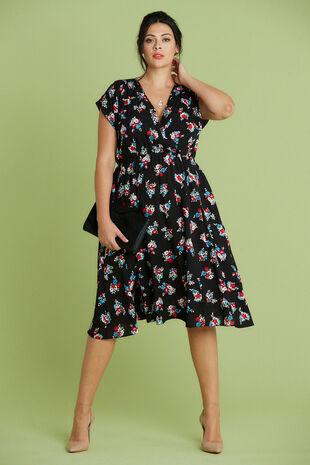 Scarlett & Jo Cross Front Pocket Dress