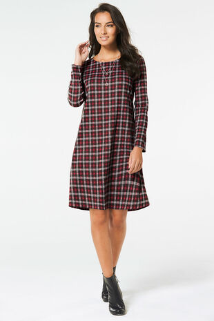 Checked Swing Dress