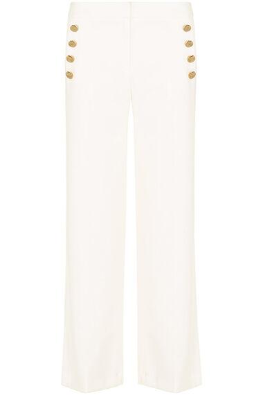 Salvari Wide Leg Button Detail Trouser