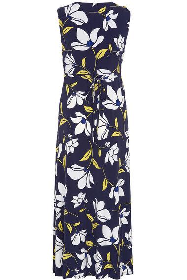 Printed Twist Front Maxi Dress