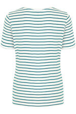 Stripe Notch Neck T-Shirt