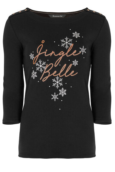 Jingle Belle' Slogan T-Shirt