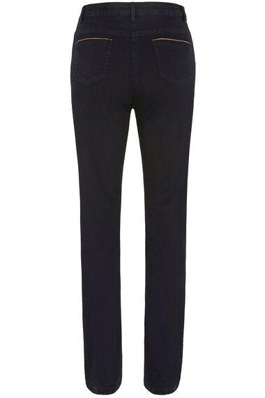 Leatherette Pocket Trim Jeans
