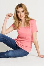 Pure Cotton Scoop Neck T-Shirt