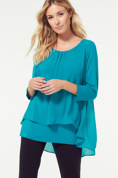 Double Layer Top With Necklace