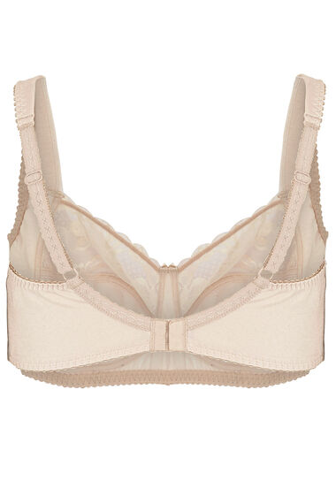 Wide Strap Lace Trim Non Wired Bra