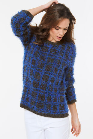Check Textured Jumper