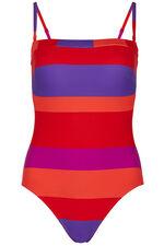 Stripe Bandeau Swimsuit