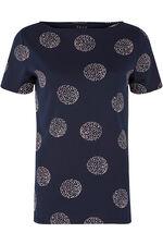Boat Neck Spot Print T-Shirt