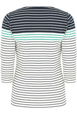 Gradient Printed Stripe T-Shirt
