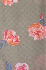 Khaki Floral Scarf