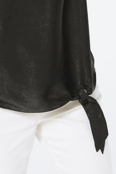 Brushed Satin Knot Detail Top