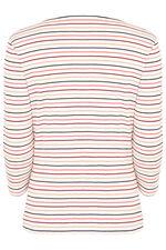 Square Neck Multi Stripe T-Shirt