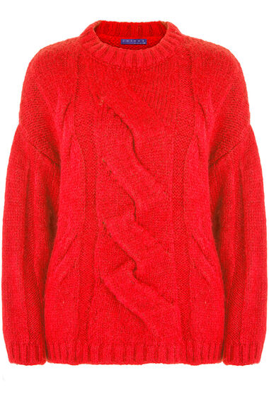 Join Us Cable Knit Crew Jumper