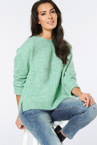 Cosy Stepped Hem Jumper