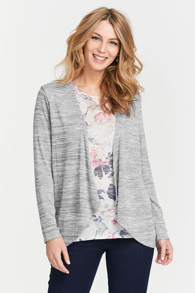 Printed Inner Knitted 2 in 1 Top