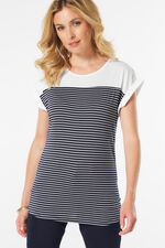 Stella Morgan Border Stripe Print T-Shirt