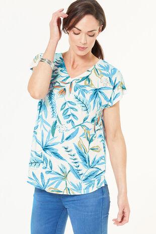 Denim Floral T-Shirt