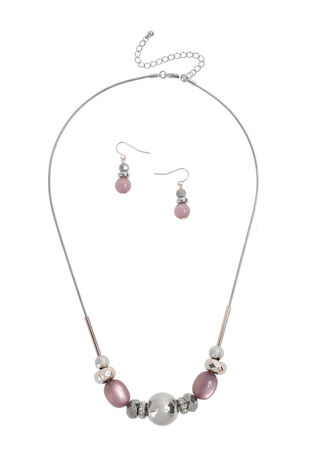 Muse Murano Glass Necklace and Earring Set