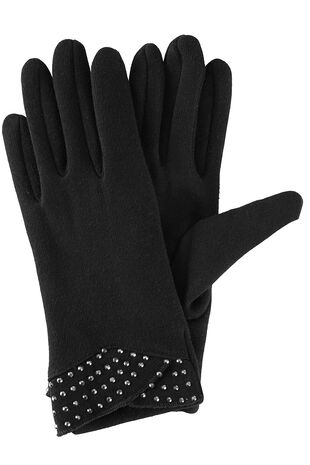 Diamante Detail Ponte Glove