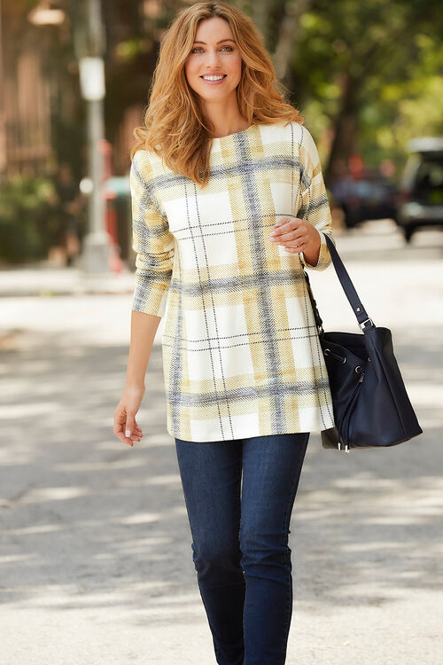 Soft Touch Check Tunic