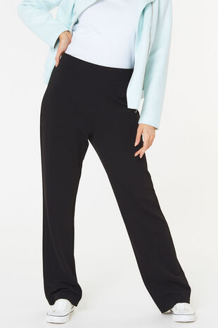 Textured Straight Leg Trouser