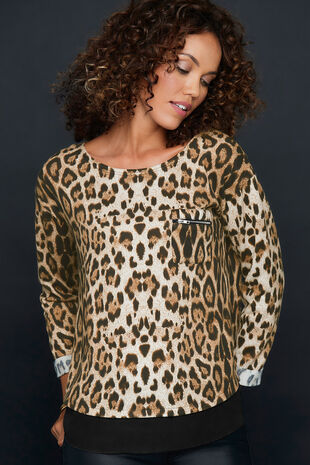 Izabel Animal Print Top