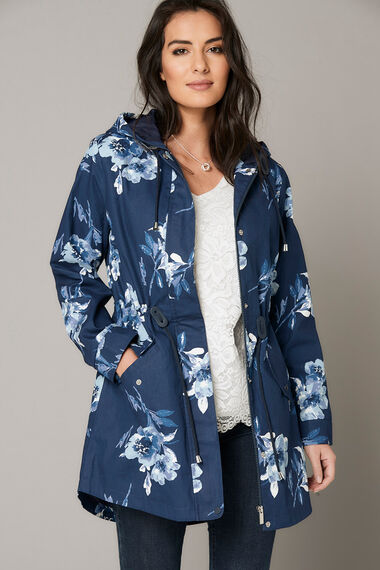 Poppy Printed Shower Resistant Parka